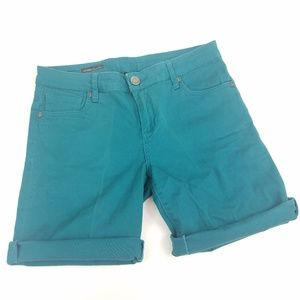 Kut from the Kloth Teal Catherine Boyfriend Shorts